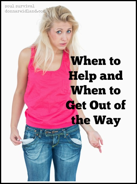 """When to Help and When to Get Out of the Way"" March 27"