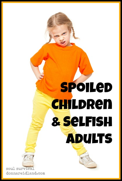 Spoiled Children & Selfish Adults - Children who grow to expect whatever makes them happy, often approach the throne room of God like spoiled children and grow to be selfish adults. How does your parenting help or hinder your children's understanding of God? Could you be setting them up for failure in their relationships with a future spouse or others without even realizing it?
