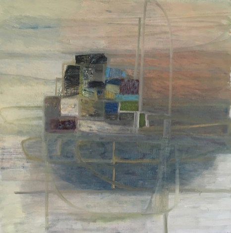 """""""Peaceful At Sea,"""" Oil on Linen, 18""""x18"""""""