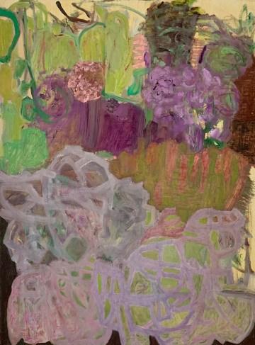 """Garden Abstraction #2,"" Oil on Linen, 24""x18""x1"""