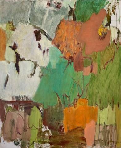 """Garden Abstraction #3,"" Oil on Linen, 24""x20""x.75"""