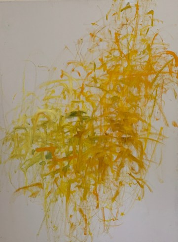 """Garden Abstraction #4,"" Oil on Linen, 32""x24""x1.5"""