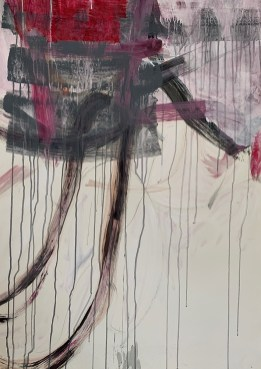 """""""Winter Rose 2,"""" 2020, Mixed Media on Paper, 36""""x25"""""""