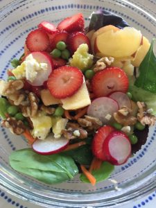 salad with vegetables and fruits