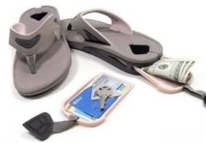 flip flop sandals with secret compartment