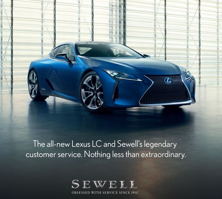 Sewell Lexus LC Magazine Ad