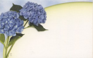 Floral Enclosure Card - hydrangeas