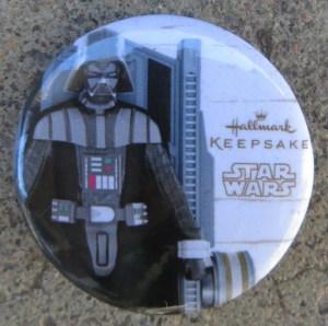 Hallmark Button - Darth Vader