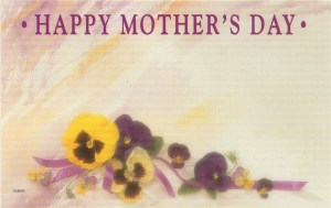 Happy Mother's Day - pansies