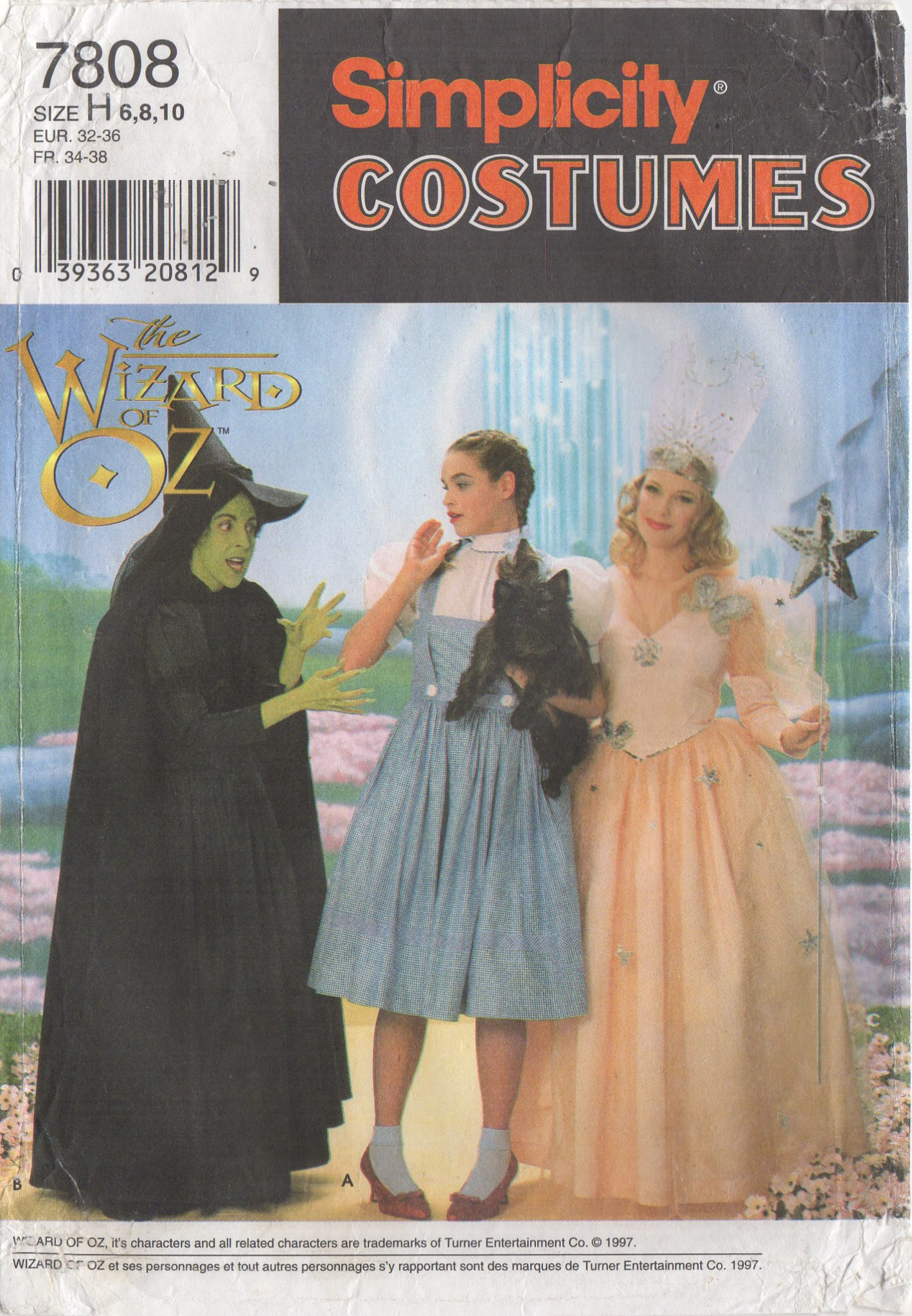 368a8bea9 DOROTHY & WITCHES FROM THE WIZARD OF OZ – Simplicity 7808, Misses' 6-10 or  12-16