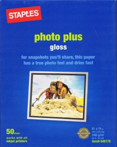 "Staples Photo Plus Gloss 8-1/2"" x 11"""