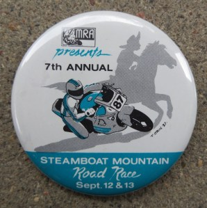 Steamboat Mountain Race - 1987 button