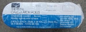 Thermal Calculatoor Rolls