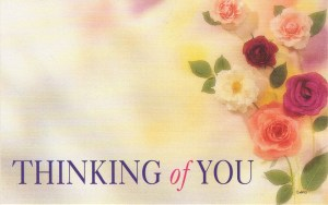 Thinking of You floral enclosure - mixed roeses