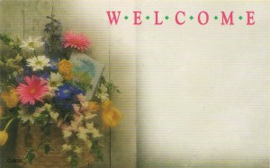 Welcome floral enclosure card
