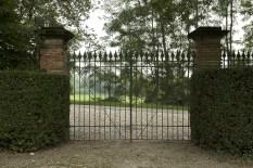 Il famoso cancello da cui entra il Conte Ristori