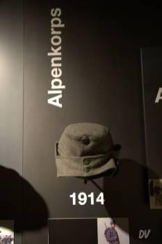 Mutze tedesco della Prima guerra mondiale, divisione Alpenkorps.