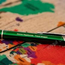 Penna con inchiostro blu