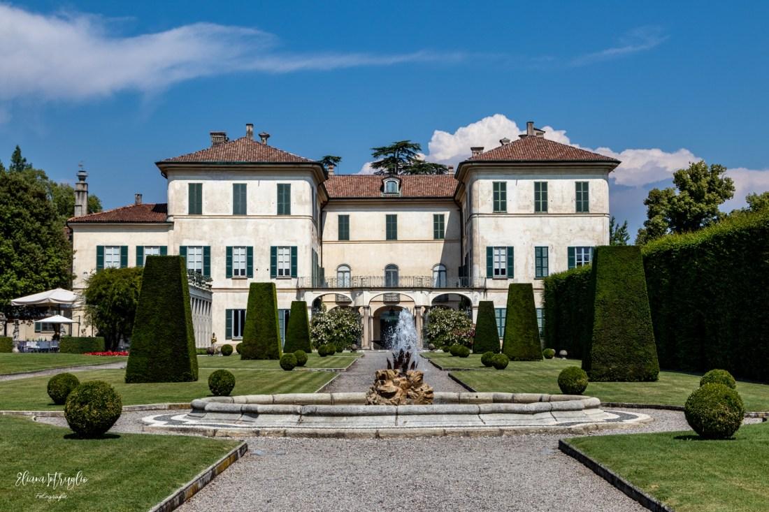 La Villa vista dal giardino all'italiana