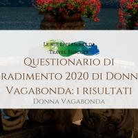 Questionario di gradimento 2020 di Donna Vagabonda: i risultati