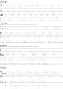 Small Print Manuscript Handwriting Lessons