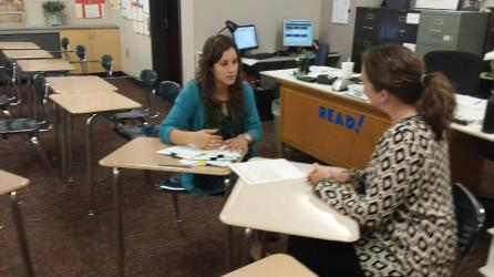 My focus for conferences was to appear confident, knowledgeable about each student, and give excellent eye contact.
