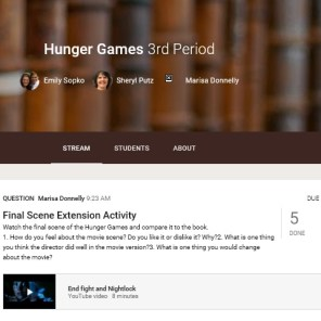 Using Google Classroom for our all assignments