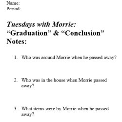 Comprehension questions and scaffolded notes for ending chapters