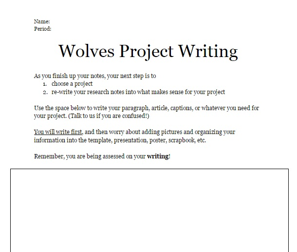 wolvesprojetwriting