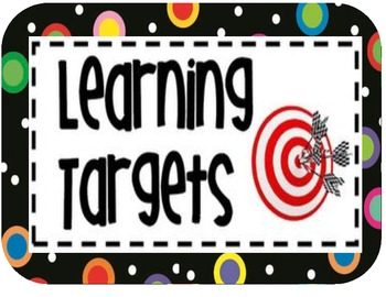 Clinical Observations – Learning Targets Calendar