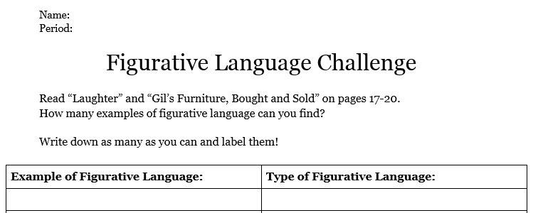 Figurative Language – Miss Donnelly's Daily Apple