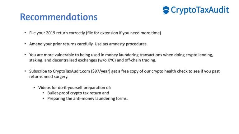 crypto tax audit