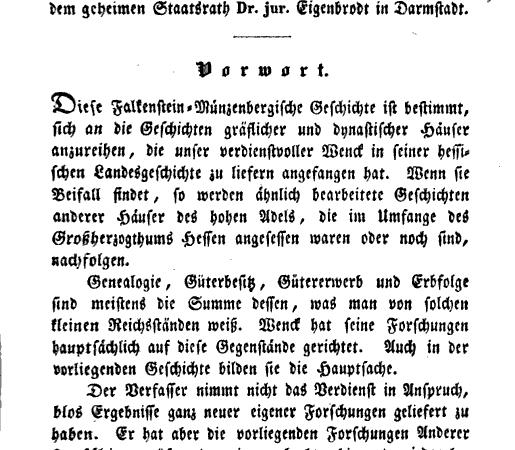 Neues Recherchematerial: Diplomatische Geschichte der Dynasten von Falkenstein