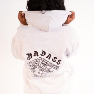 Zipped Hoodie Badass Gris
