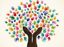 Image Gallery helping hands colorful