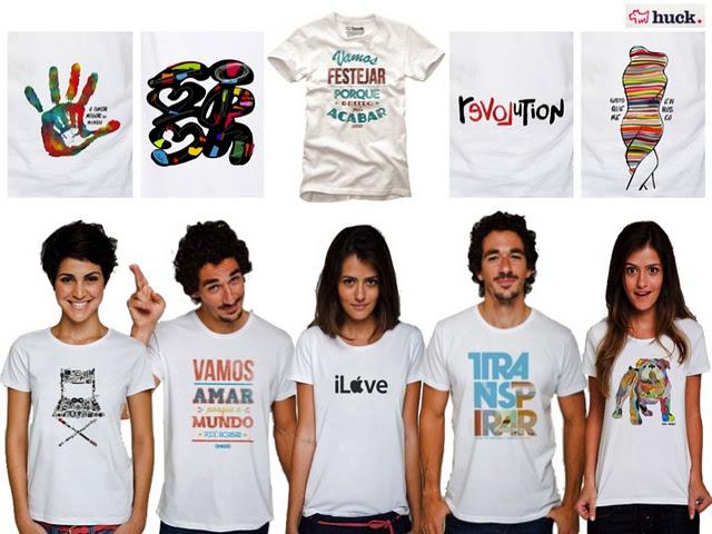 Camisetas Luciano Huck Camisetas Huck: Coleção 2012 de Camisetas do Luciano Huck