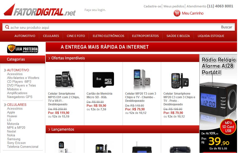 fator digital celulares promoção Fator Digital Celulares em Promoção, Preços