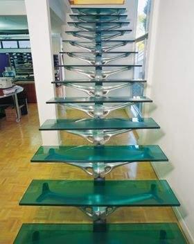 Modelos de Escadas em Vidro 1 Modelos de Escadas em Vidro