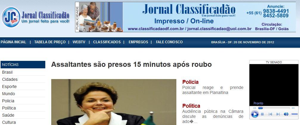 JORNAL CLASSIFICADÃO WWW.CLASSIFICADAODF.COM .BR JORNAL CLASSIFICADÃO - WWW.CLASSIFICADAODF.COM.BR