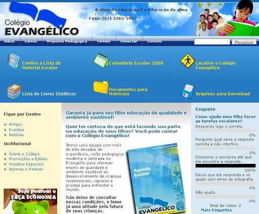 COLEGIO 252520EVANGELICO Escolas Infantis em Campo Grande, Endereço e Telefone
