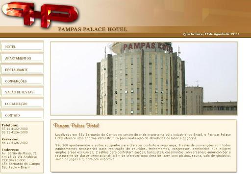 PAMPAS 252520PALACE 252520HOTEL Hotel em São Bernardo do Campo, Endereço e Telefone