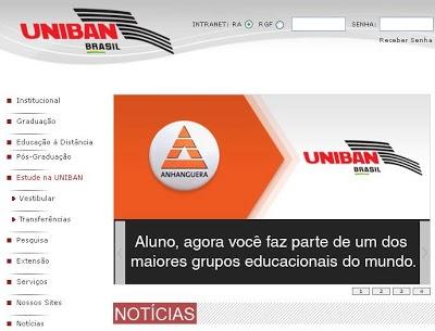 Uniban Vestibular Uniban 2011: Vagas e Inscrições