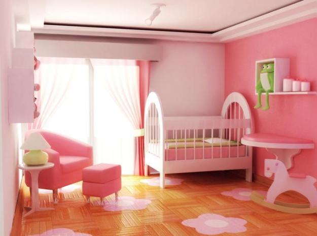 Decoração Rosinha Para Quarto de Bebê