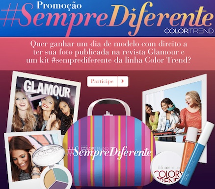promoção color trend Promoção Color Trend Sempre Diferente
