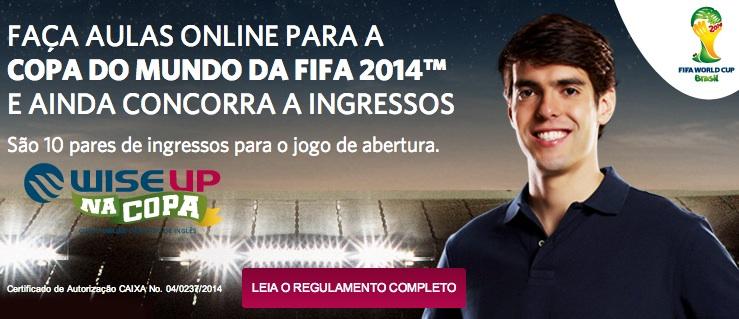 Promoção Wise UP na Copa do Mundo Promoção Curso Online de Inglês Wise Up