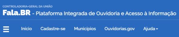 Captura de Tela 2020 02 19 às 17.45.07 Cadastrar no Fala.br Ouvidoria e Acesso à Informação - Governo Federal