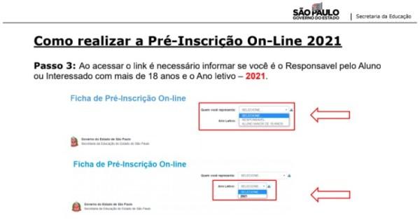 Pré-Inscrição online 2021. Realizar preé-inscrição para matricula escolar em São Paulo.