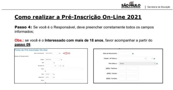 Captura de Tela 2021 03 25 às 11.18.32 Pré-Inscrição online 2021 para Matrícula Rede Pública de Ensino São Paulo