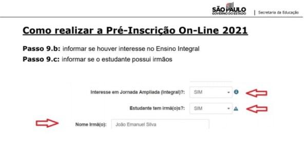 Captura de Tela 2021 03 25 às 11.21.10 Pré-Inscrição online 2021 para Matrícula Rede Pública de Ensino São Paulo