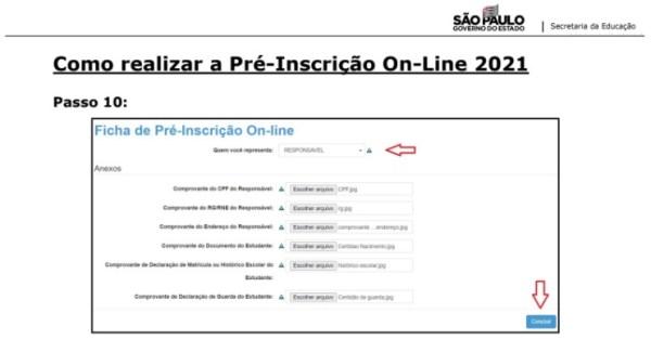 Captura de Tela 2021 03 25 às 11.22.04 Pré-Inscrição online 2021 para Matrícula Rede Pública de Ensino São Paulo